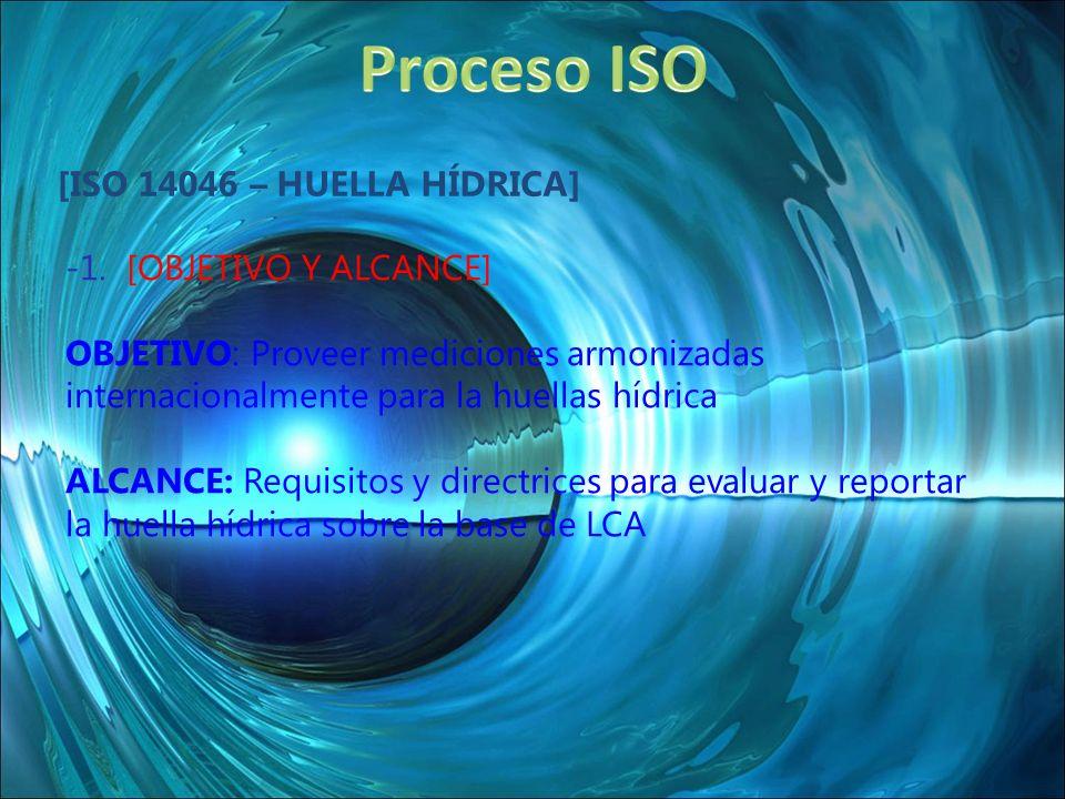 Proceso ISO [ISO 14046 – Huella Hídrica] 1. [OBJETIVO Y ALCANCE]